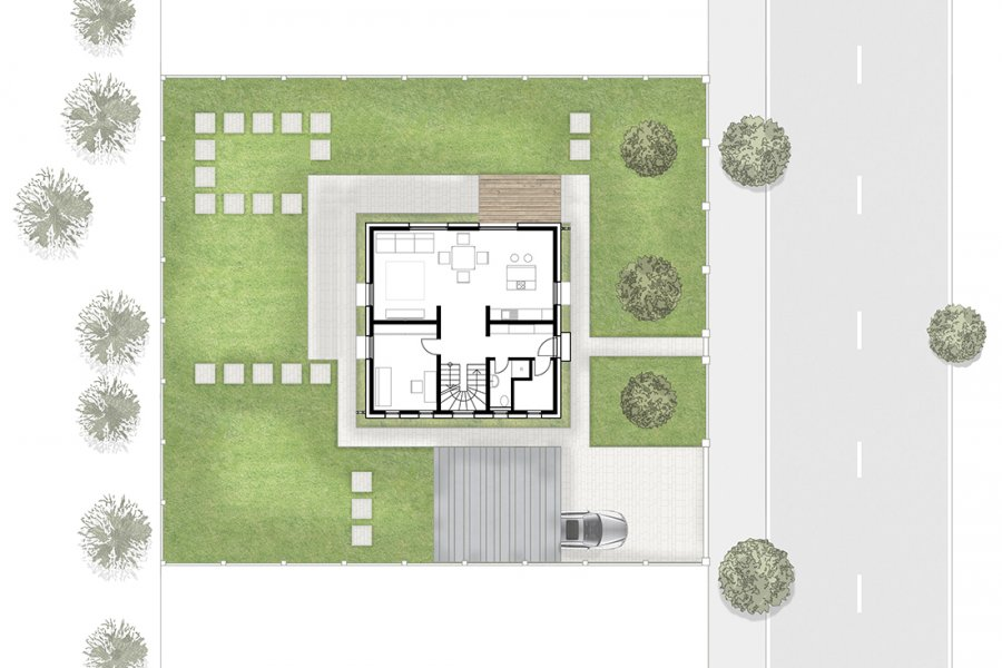 Construction of a single-family house
