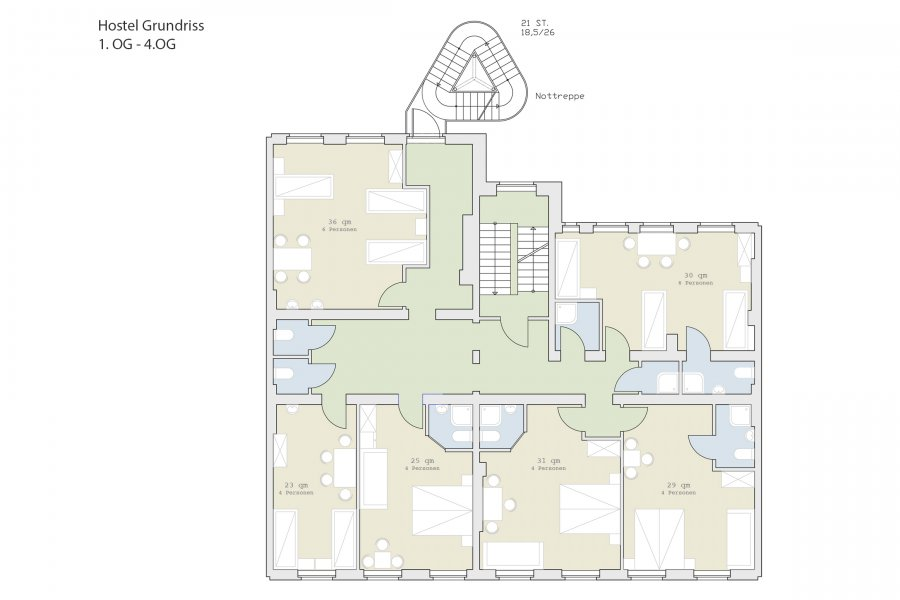 Replanning of a commercial facility to the Hotel