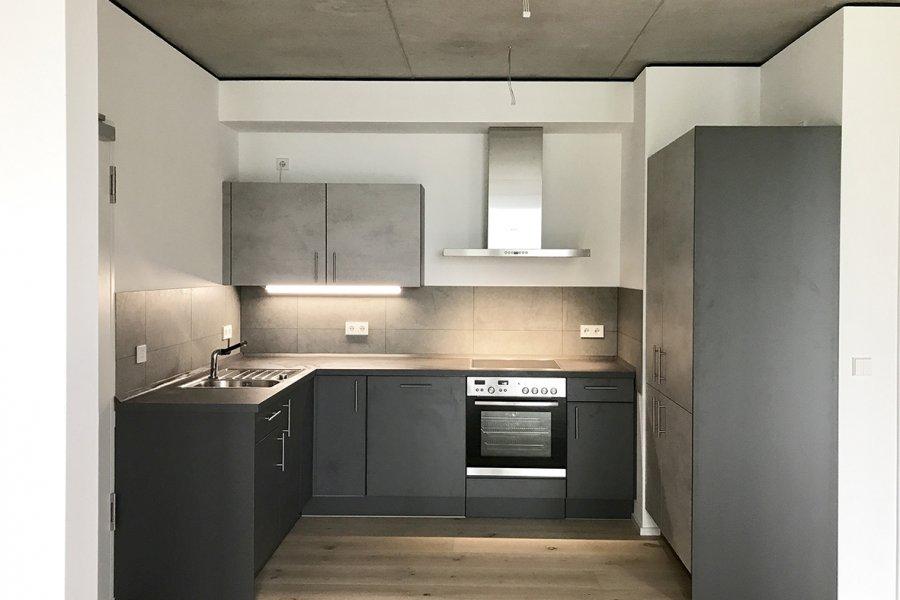 Kitchen in concrete optics