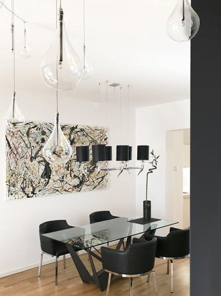 Wohnung in schwarz-weiß mit Akzent - Exprimo-Berlin